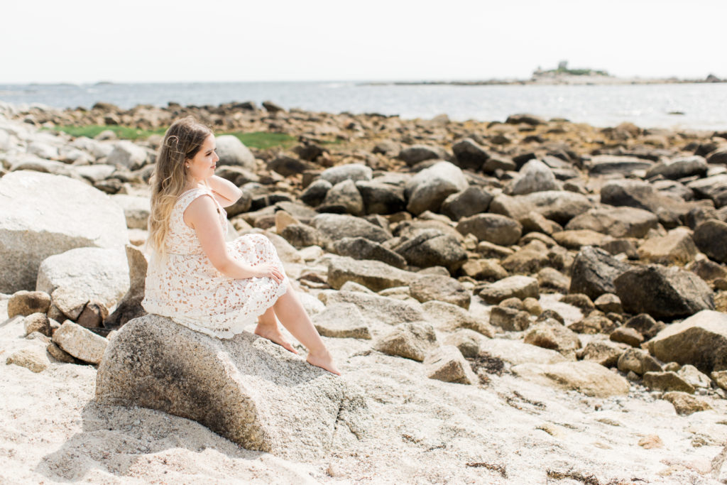 Contemplating the sea at the beach by Oceanstone. Relax, Unwind, and exhale the ocean breeze.