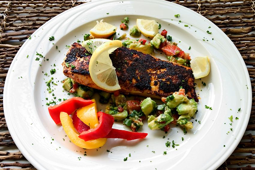 Blackened Haddock fish with Pico de Gallo